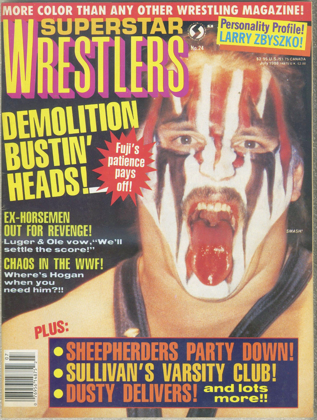 OSW Review | Superstar Wrestlers Magazine Covers 1988
